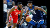 Harden, Rockets soar past Wolves 119-100 with 50-point 3rd