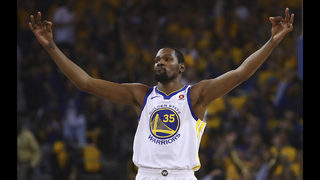 Durant, Green lead Warriors past Spurs into second round