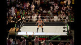 """World Wrestling star Rusev is greeted by fans during his match of the """"Greatest Royal Rumble"""" event in Jiddah, Saudi Arabia, Friday, April 27, 2018. A previous WWE event held in the ultraconservative kingdom in 2014 was for men only. But Friday night's event in Jiddah included both women and children in attendance. (AP Photo/Amr Nabil)"""