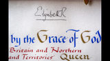 The signature of Britain's Queen Elizabeth II atop the 'Instrument of Consent', which is the Queen's historic formal consent to Prince Harry's forthcoming marriage to Meghan Markle, photographed at Buckingham Palace in London, Friday May 11, 2018. Britain's Queen Elizabeth II signed the Instrument of Consent, her formal notice of approval for the wedding in elaborate calligraphic script issued under the Great Seal of the Realm.(Victoria Jones/Pool via AP)