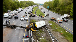 Bus driver charged in crash that killed student, teacher
