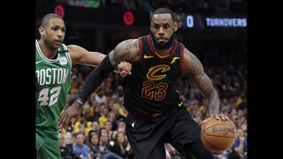 LeBron scores 44 as Cavs even series with Celtics