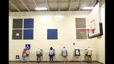 Voters cast their ballots at Chase Street Elementary for Georgia's primary election in Athens, Ga., Tuesday, May 22, 2018. (Joshua L. Jones/Athens Banner-Herald via AP)