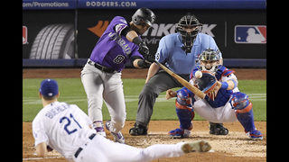 Rockies edge Dodgers 2-1, move into 1st place in NL West