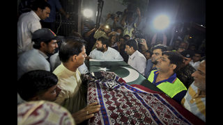Body of Pakistani killed at Texas school arrives in Karachi