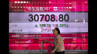 Asian shares advance as markets mull North Korea, Italy, oil