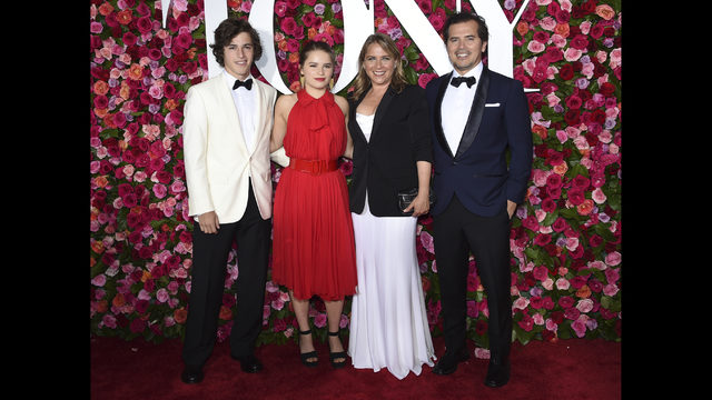 Lucas Leguizamo From Left Allegra Justine Maurer And John Arrive At The 72nd Annual Tony Awards Radio City Music Hall On Sunday