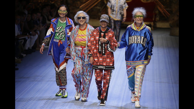 08cae5b8e5ca Models wear creations as part of Dolce   Gabbana s 2019 Spring-Summer  collection