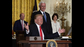 The Latest: Trump renews trade criticisms of Mexico, Canada