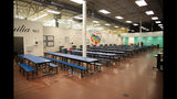 This undated photo provided by the U.S. Department of Health and Human Services' Administration for Children and Families shows part of a shelter used to house unaccompanied foreign children in Brownsville, Texas. (HHS' Administration for Children and Families via AP)