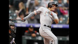 Dietrich homers for 3rd game in row, Marlins top Rockies 8-5