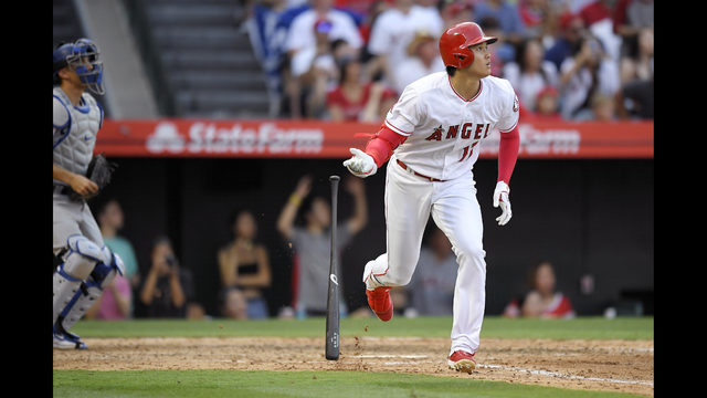 606353327 Ohtani hits pinch-hit homer to lift Angels over Dodgers 4-3