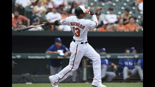Machado homers, exits early in Orioles