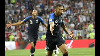 Young, joyful France beats Croatia 4-2 to win 2nd World Cup