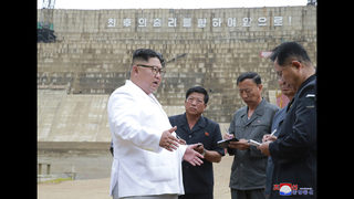 Kim slams local North Koreans for unfinished power plant