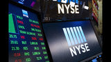 FILE- In this May 10, 2018, file photo, stock screens are shown at the New York Stock Exchange. The U.S. stock market opens at 9:30 a.m. EDT on Thursday, July 19. (AP Photo/Mark Lennihan, File)