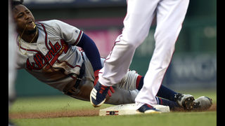 Braves star 2B Albies likely to sit with tight hamstring