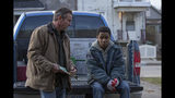 """This image released by Lionsgate shows Dennis Quaid, left, and Myles Truitt in a scene from """"Kin."""" (Alan Markfield/Lionsgate via AP)"""