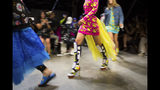Jeremy Scott's spring 2019 collection is modeled during Fashion Week in New York, Thursday, Sept. 6, 2018. (AP Photo/Kevin Hagen)