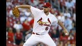 St. Louis Cardinals starting pitcher Austin Gomber throws during the first inning of a baseball game against the Los Angeles Dodgers, Thursday, Sept. 13, 2018, in St. Louis. (AP Photo/Billy Hurst)