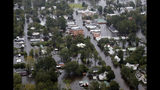 Floodwaters from Hurricane Florence inundate the town of Trenton, N.C., Sunday, Sept. 16, 2018. (AP Photo/Steve Helber)