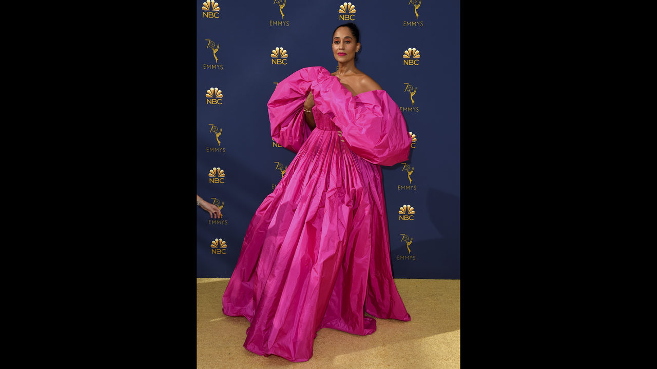 3a16a17244ee Tracee Ellis Ross leads parade of pink on Emmys carpet