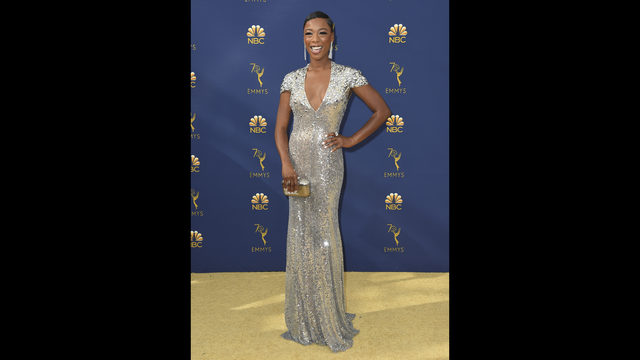 fd05b07c7433 Samira Wiley arrives at the 70th Primetime Emmy Awards on Monday