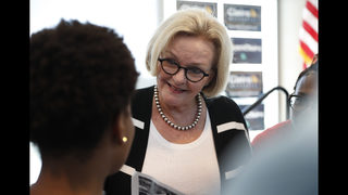 Trying to hold state Trump won, McCaskill feels pull to left