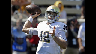 No. 8 Notre Dame swaps quarterbacks, beats Wake Forest 56-27