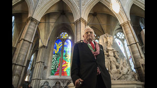 Westminster Abbey gets Hockney-designed stained glass window