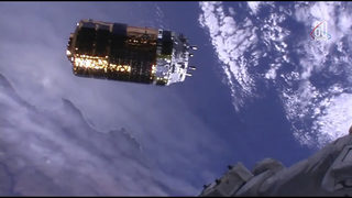 Space station receives special delivery from White Stork