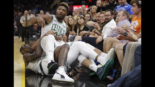 NBA fines Marcus Smart, J.R. Smith for shoving match