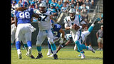 Carolina Panthers' Cam Newton (1) runs against the New York Giants in the second half of an NFL football game in Charlotte, N.C., Sunday, Oct. 7, 2018. (AP Photo/Jason E. Miczek)