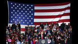 President Donald Trump speaks at a rally endorsing the Republican ticket, Friday, Oct. 12, 2018, in Lebanon, Ohio. (AP Photo/John Minchillo)