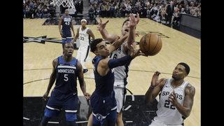 DeRozan leads Spurs past Wolves 112-108; Butler scores 23