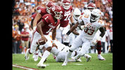 FILE - In this Saturday, Oct. 6, 2018, file photo, Oklahoma quarterback Kyler Murray (1) scrambles against Texas during the first half of an NCAA college football game at the Cotton Bowl in Dallas. (AP Photo/Cooper Neill, File)