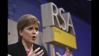 Scottish leader pulls out of media event featuring Bannon