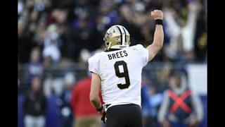 Brees comeback, missed XP gets Saints past Ravens 24-23