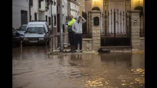 Firefighter dies as flooding hits southern Spain