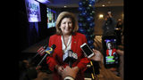 Karen Handel, U.S. Representative, GA 6th Congressional District, talks to the media during an appearance at her election watch party on Tuesday, Nov. 6, 2018, in Atlanta. (Curtis Compton/Atlanta Journal-Constitution via AP)