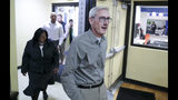Governor-elect Tony Evers, right, walks into a room filled with press before making a statement, and answering questions on Wednesday Nov. 7, 2018. Governor-elect Tony Evers, and Lt. Governor elect Mandela Barnes took a tour of the Boys & Girls Club of Dane County in Madison, Wis. (Steve Apps/Wisconsin State Journal via AP)