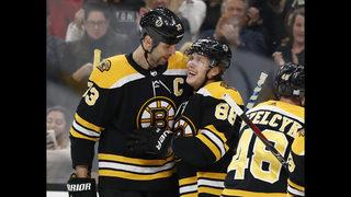 Pastrnak scores 3 as Bruins beat Maple Leafs