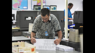 The Latest: Former US Rep says his ballot didn