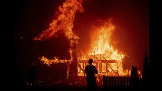 Many wildfire survivors too busy seeking help to watch Trump