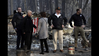 President Trump tours wildfire damage, meets with firefighters and local leaders