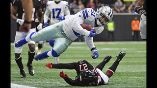 Maher boots FG on final play, Cowboys beat Falcons 22-19