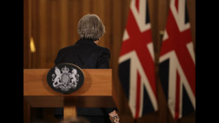 The Latest: Brexit: May warns against UK leadership change