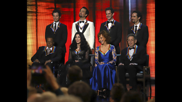 2018 Kennedy Center Honorees Front Row From Left Wayne Shorter Cher Reba McEntire And Philip Glass While Back The Co Creators Of