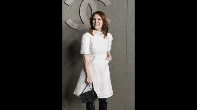 2f13db54b5f Actress Julianne Moore attends the Chanel Metiers D Art 2018 19 Show at the  Metropolitan Museum of Art on Tuesday