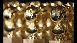 FILE - In this Jan.. 6, 2009, file photo, Golden Globe statuettes are displayed during a news conference in Beverly Hills, Calif. The Hollywood Foreign Press Association will unveil their nominations for the 76th annual Golden Globes Awards on Thursday, Dec. 6, 2018, beginning at 8:15 a.m. EST. The nominations will be live streamed on the Globes' official Facebook page and the group's website. (AP Photo/Matt Sayles, File)
